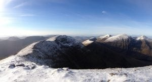 Carrauntoohil Mountain from the Eastern Reeks, Kerry