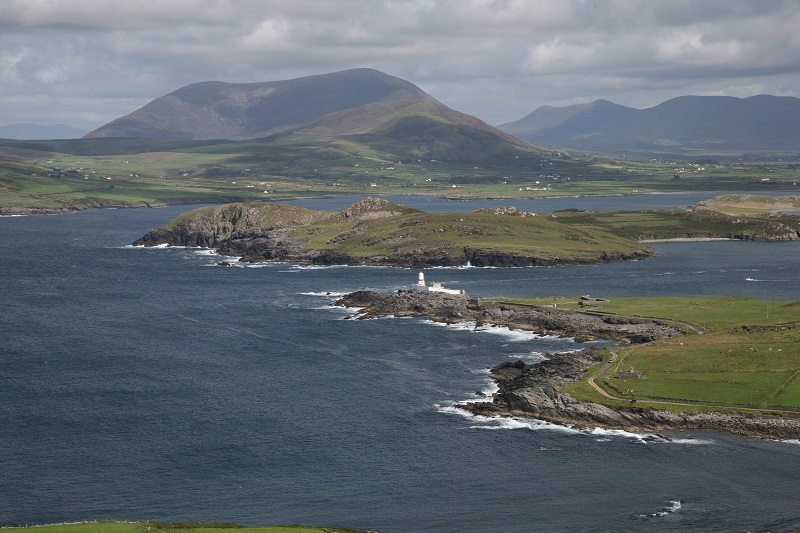 Knocknatobar view above Valentia Island Lighthouse, Ring of Kerry, Wild Atlantic Way, Ireland