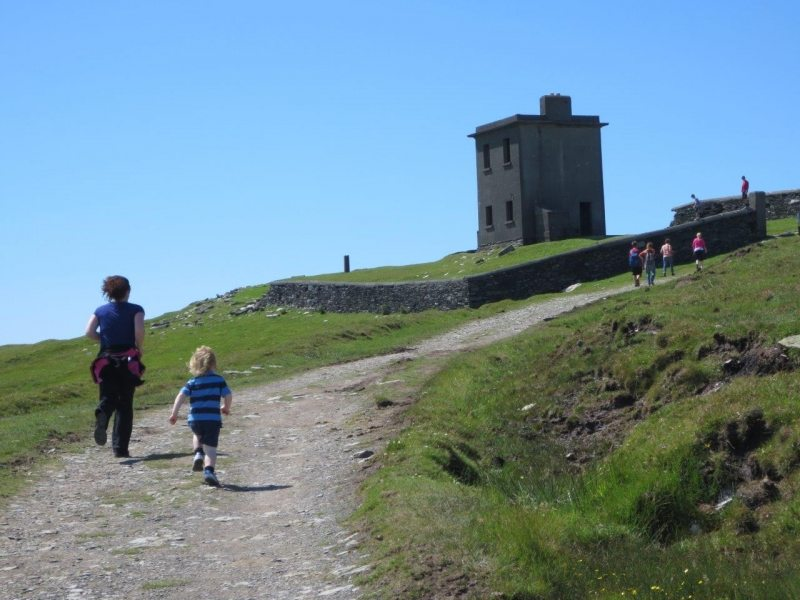 Last Family Dash to the top of Bray Head Path, Valentia Island, Co Kerry, Wild Atlantic Way, Ireland Discovery Point, Star Wars