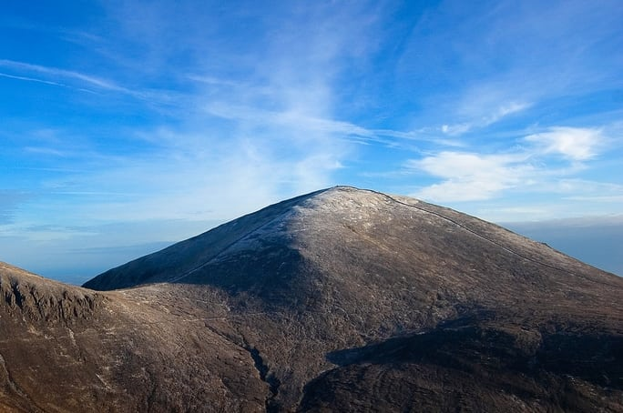 The Mourne Wall on Slieve Donard, Co. Down, Northern Ireland