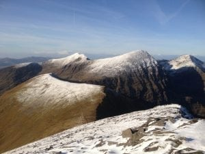 Carrauntoohil from the Eastern Reeks