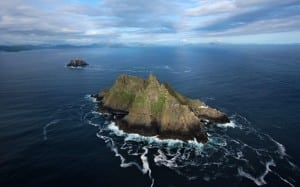 The Skelligs Aerial on the Wild Atlantic Way by Valerie O'Sullivan