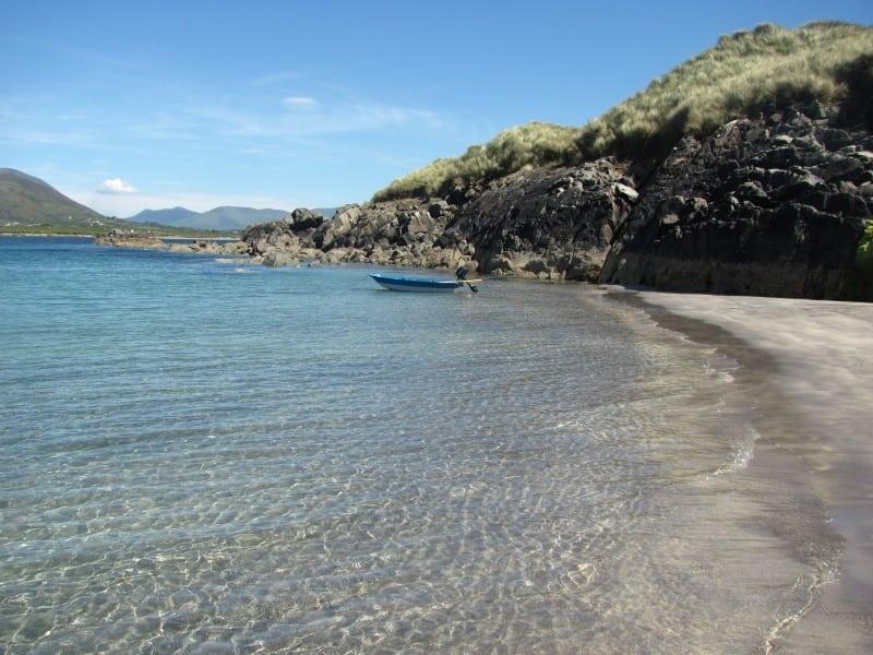 Uninhabited and tropical Beginish Island off Valentia, Ring of Kerry, Wild Atlantic Way, Ireland