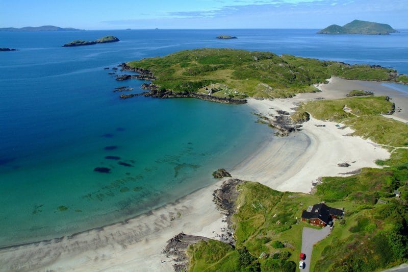 derrynane Beach and-abbey-island-1024, Caherdaniel, Ring of Kerry, Wild Atlantic Way, Ireland