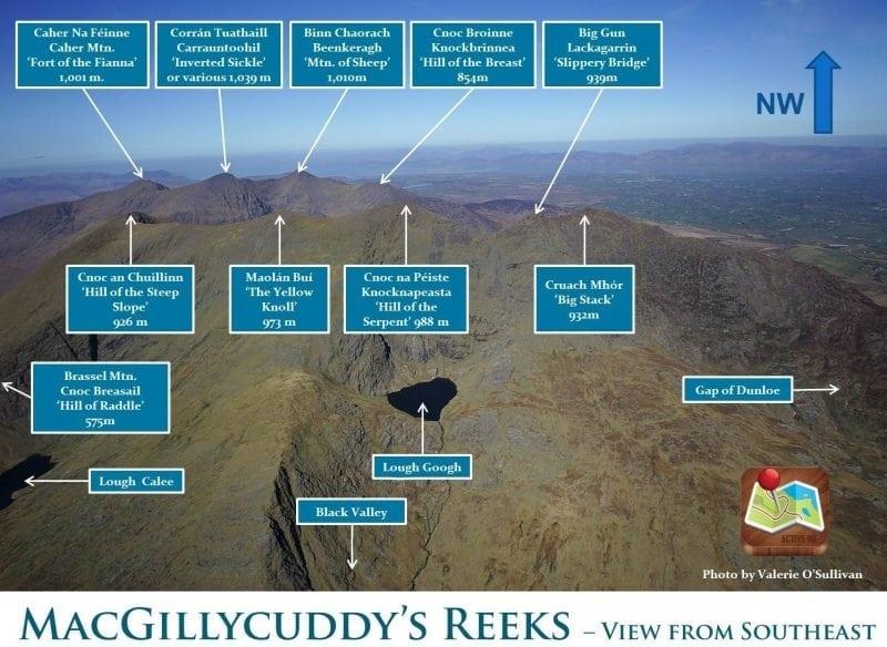 MacGillycuddy's Reeks Mountains and Carrauntoohil, Killarney, Co. Kerry