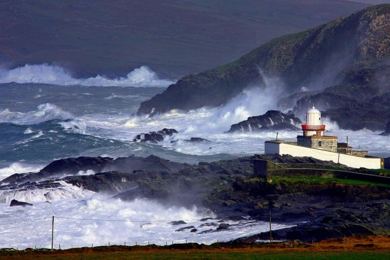Cool Atlantic breeze, Valentia Island Lighthouse, Co. Kerry on the Wild Atlantic Way by Valerie O'Sullivan