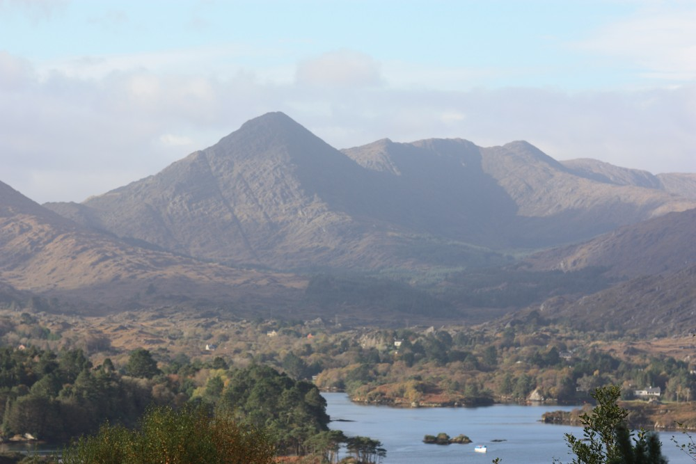 View over Glengarriff of Sugarloaf-Mtn-and-harbour