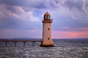 Tarbert Lighthouse on the Wild Atlantic Way by Valerie O'Sullivan