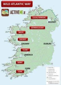 Wild Atlantic Way Route Map, Guide, Counties, Towns and Discovery Points, Ireland ActiveMe Travel Guide