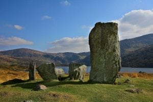 Uragh Stone Circle, Lauragh, Beara, Co. Kerry on the Wild Atlantic Way by Valerie O'Sullivan