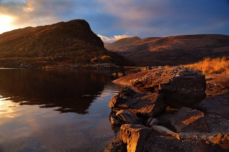 Eagles Nest Mountain on the Long Range River, Killarney by Valerie O'Sullivan