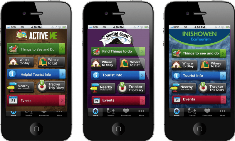 ActiveME Tourism App Design and Content Development, Ireland