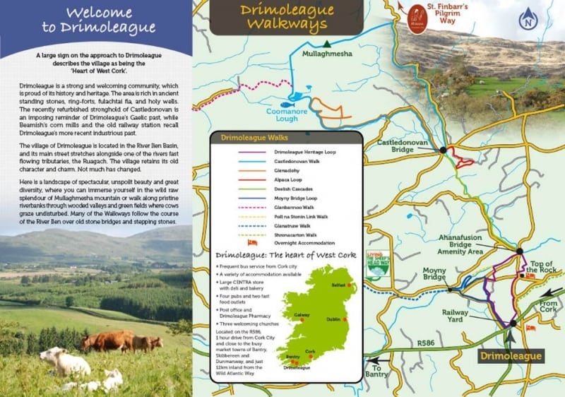Drimoleague Walking Route Map, West Cork, Ireland, Panels Final