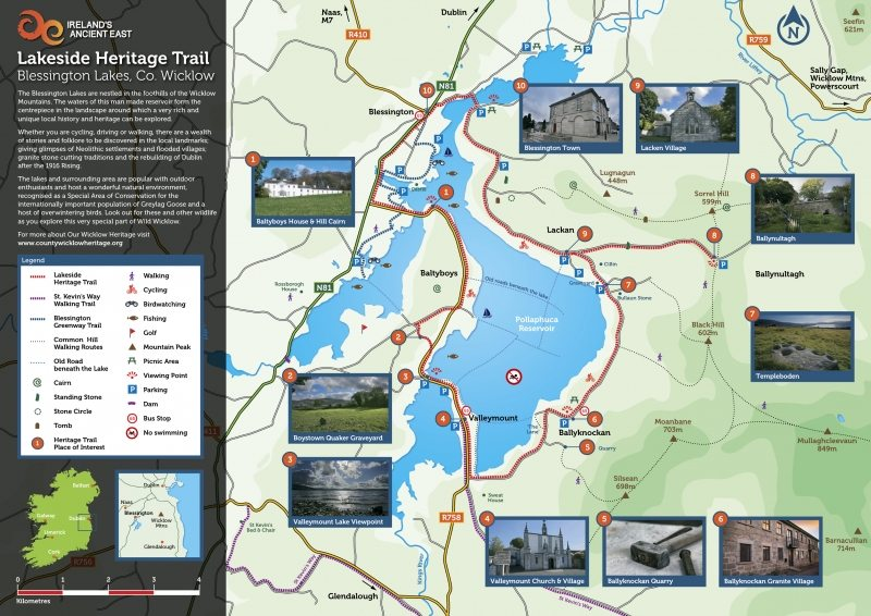 Lakeside Heritage Trail Blessington Irelands Ancient East Route Map