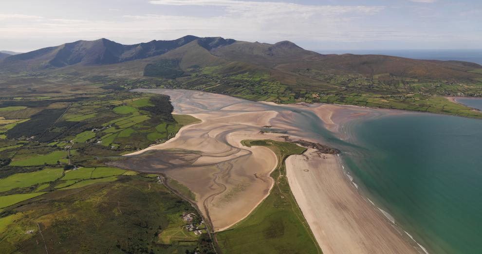 Cloghane and Brandon Mountains, Tralee and Brandon Bay, Dingle Peninsula, Wild Atlantic Way, Co. Kerry, Ireland