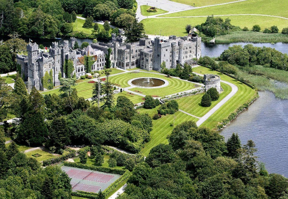 Ashford Castle in Cong, County Mayo on the shore of Lough Corrib