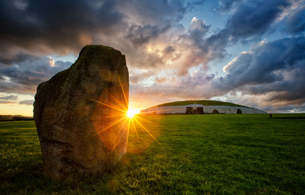 Newgrange Tomb, Boyne Valley, Co. Meath by Brian Morrison