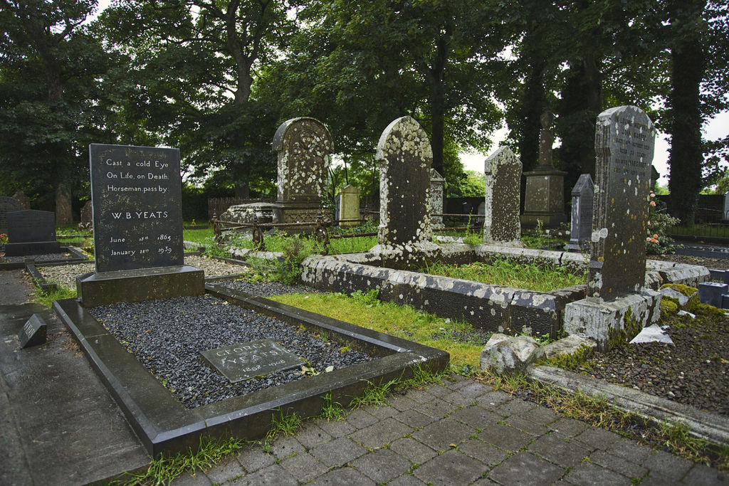 Grave of WB Yeats, Drumcliffe, Co. Sligo on Irelands Wild Atlantic Way