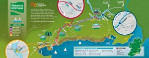 Waterford Deise Greenway Cycle Route Map and Walking Trail, Dungarvan to Waterford along the Copper Coast in Irelands Ancient East 2017 Map - Copy