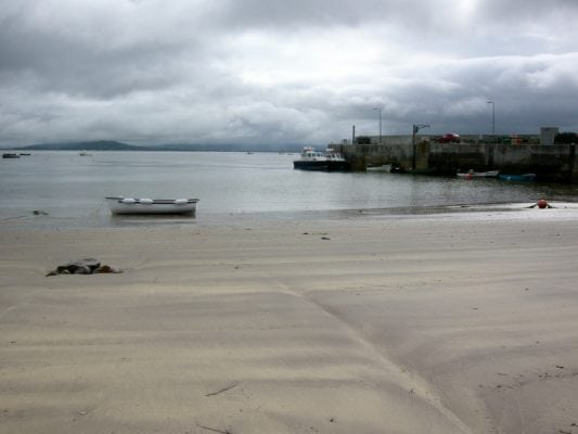 Ballinskelligs Harbour Beach Is A Nice Small Sandy Immediately Adjacent To Pier In South County Kerry Ireland