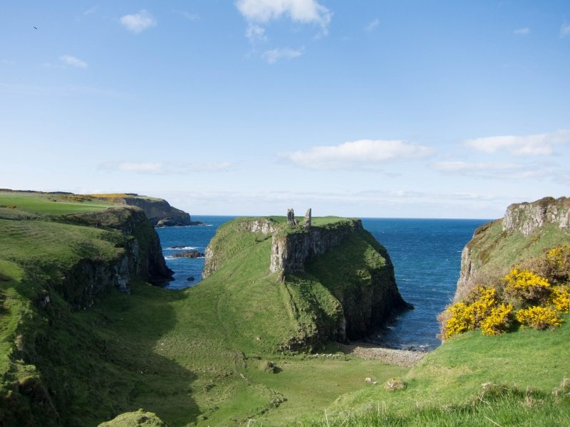 Dunseverick Castle, Causeway Coast, Antrim, Northern Ireland