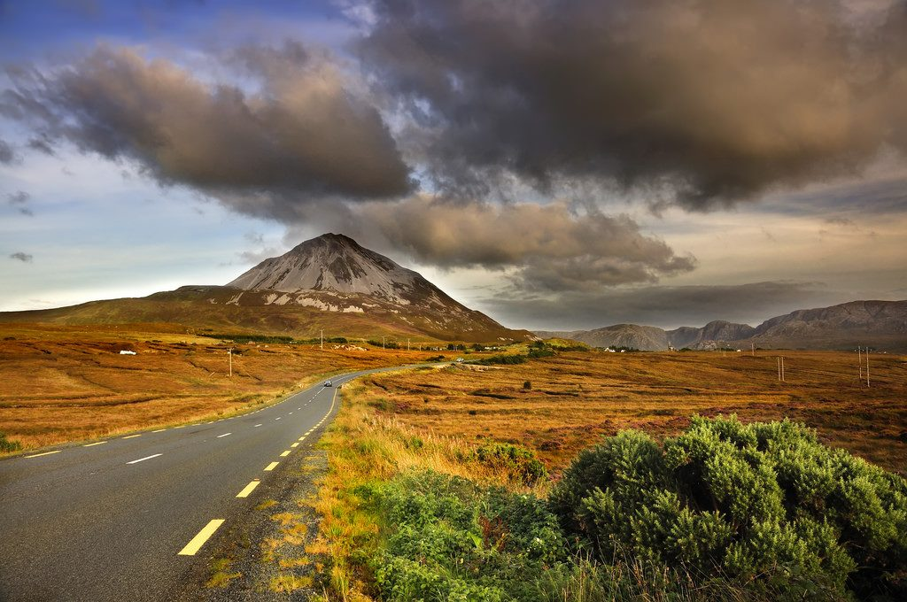 Errigal Mountain looking east Donegal on the Wild Atlantic Way