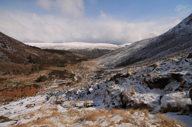 Glenmalure Valley, Lugnaquilla Mountain Walk Trail, Co Wicklow. Image Peter Murray Irelands Best Walks