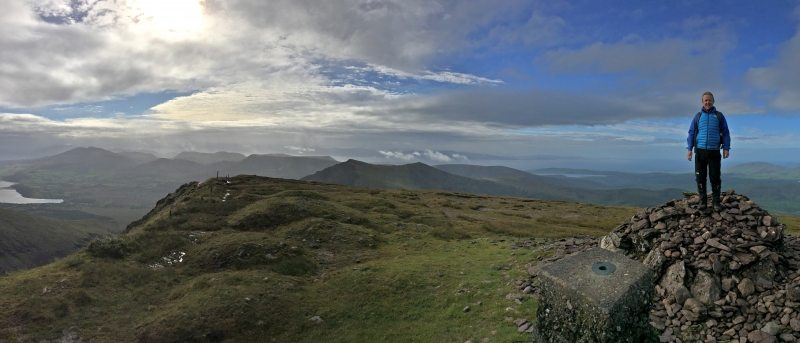 Mountain_Brandon_View_South from Summit_Tralee_Dingle_Kerry_Bay_Area_Wild_Atlantic_Way_Ireland
