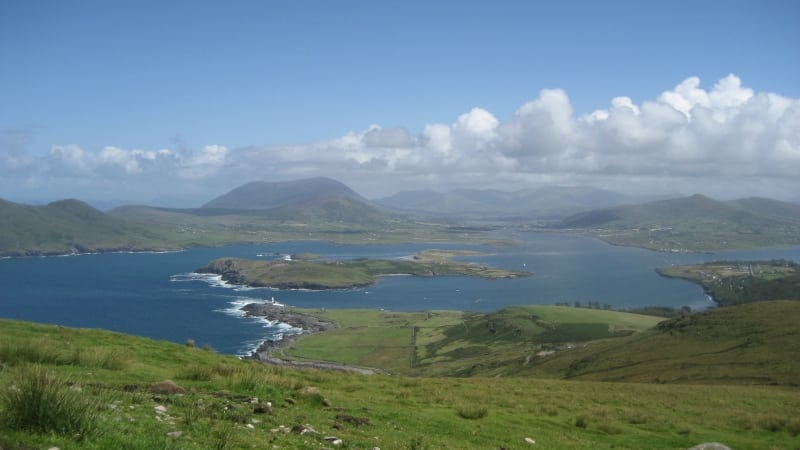 view of Beginish Island from Valentia
