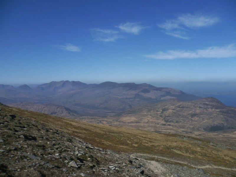 View of Reeks from summit