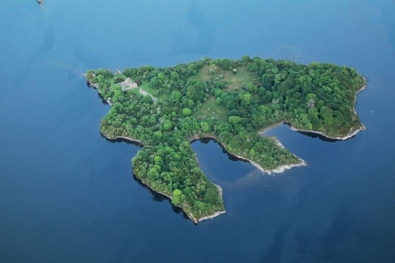 Innisfallen Island Aerial, Lough Leane, Killarney, Kerry, Ireland
