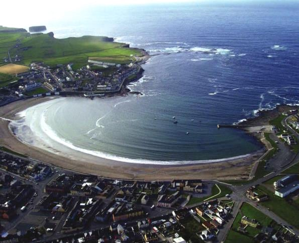 Kilkee Beach on Black Border