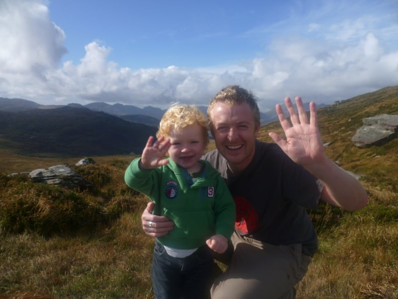Brian and Fíonán Coakley on Torc Mountain, Killarney