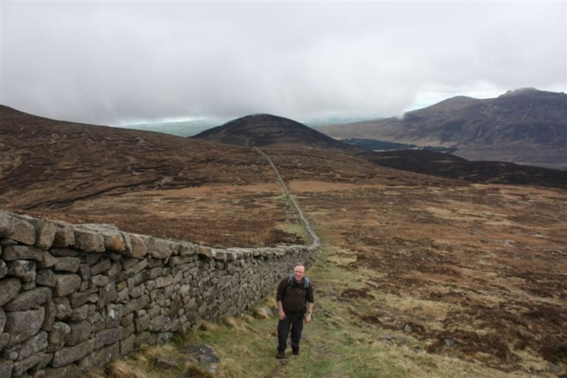 Mourne Wall on the slopes of Slieve Donard