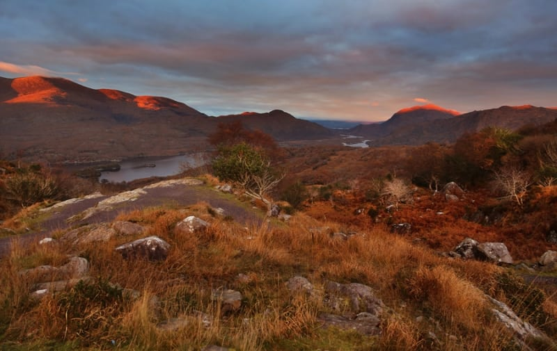 Ladies View Sunset, Killarney Valley, Ring of Kerry, Ireland by Valerie O'Sullivan