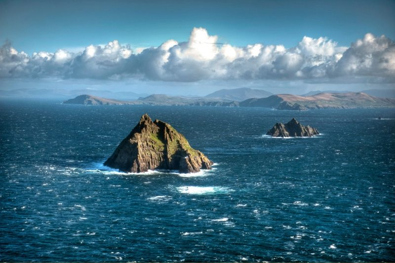 Skellig Islands UNESCO World Heritage Site, Puffin and Gannet Colonies and major set for Star Wars VII The Force Awakens on the Wild Atlantic Way, Ireland