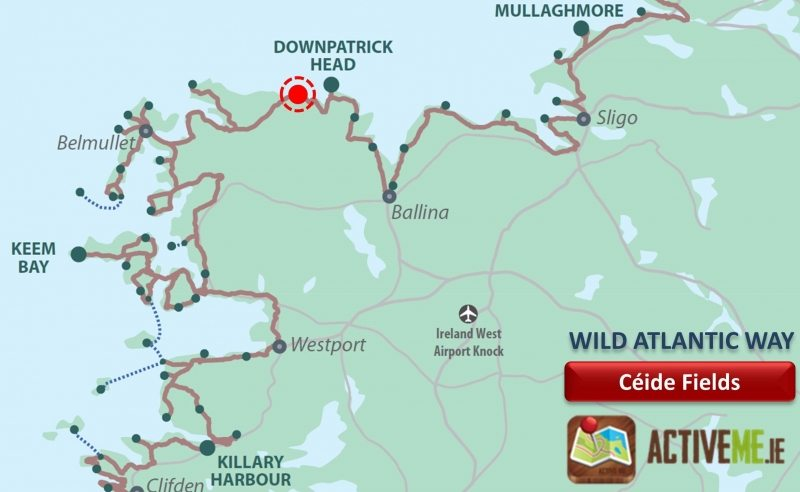 Map Of Ireland Mayo.Ceide Fields Ballycastle Co Mayo Wild Atlantic Way Ireland