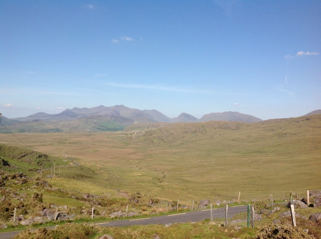 View East to the Reeks from Bealach Oisin