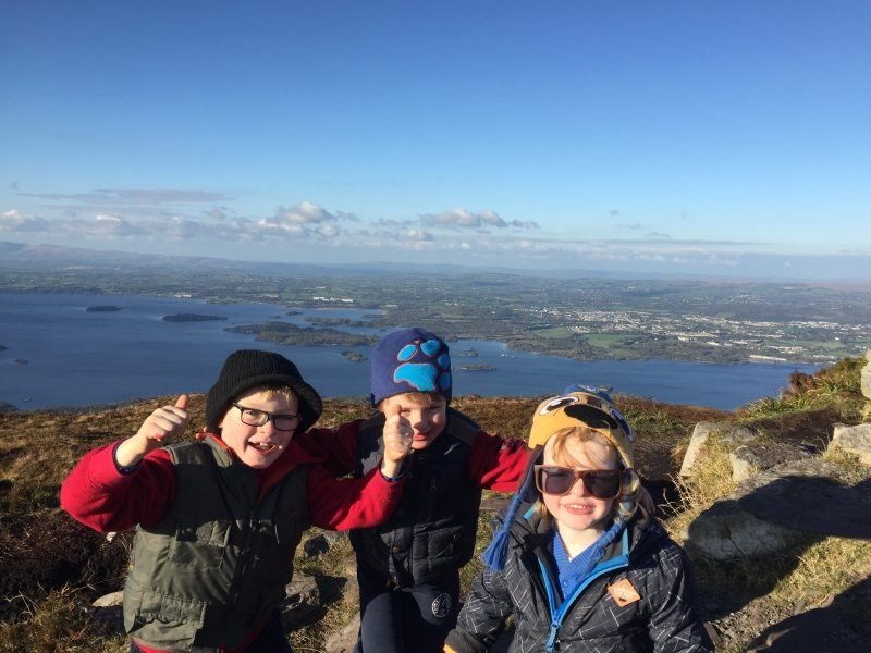 Torc Mountain Walking Route, Family and Kids Friendly Walk, Killarney, Co. Kerry, Ireland - Lakes National Park Kerry Way Hiking Trail