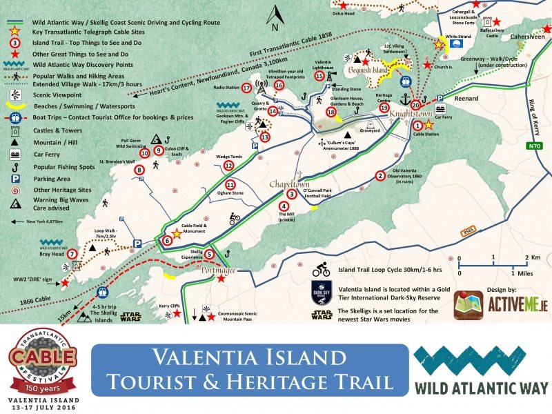 Valentia Island Transatlantic Cable Knightstown Heritage Trail Map 07.10.16 Wild Atlantic Way Ring of Kerry Skellig Ring by ActiveMe