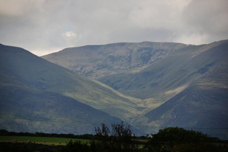 Caherconree Mountain and the three faces of Cu Roi Mac Daire of Irish Mythology on the Wild Atlatnic Way, Tralee, Co. Kerry