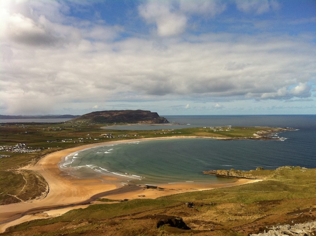 Tullagh Strand Beach from Binnion Hill, Inishowen, Donegal c.Trean House B&B