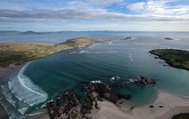Aerial Derrynane on the Wild Atlantic Way by Valerie O'Sullivan