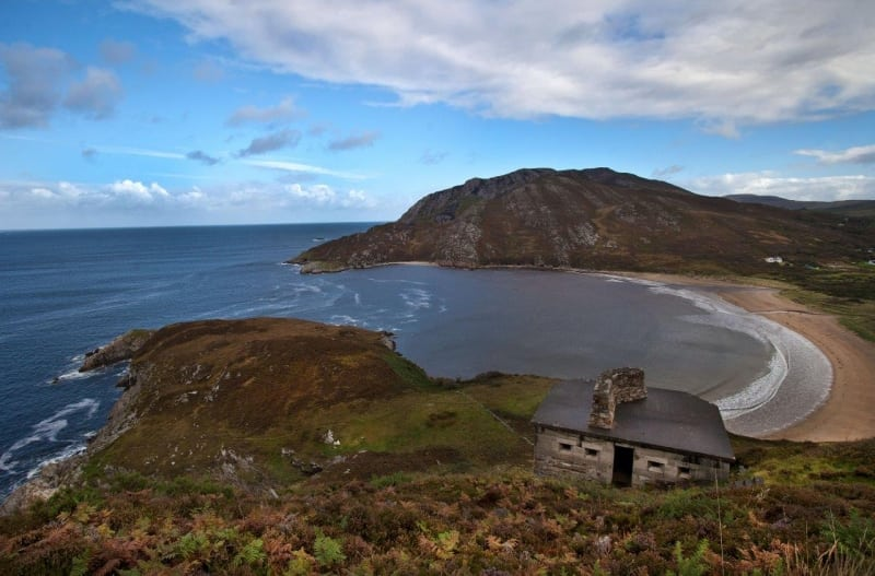 Dunree Strand on the Wild Atlantic Way by Valerie O'Sullivan
