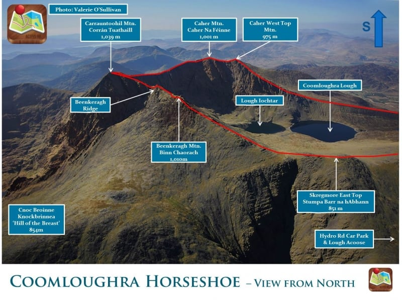 Coomloughra Horseshoe Route Photo - MacGillycuddys Reeks, Kerry