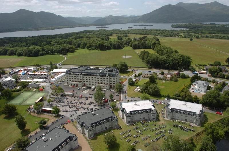 The Brehon Hotel, Killarney, Co. Kerry, Ireland Aerial Killarney Lakes