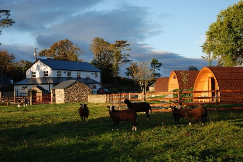 Ross Farmhouse at Top of the Rock Pod Pairc and Walking Centre, Drimoleague, West Cork, Ireland