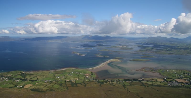 Clew Bay and Murrisk view from Croagh Patrick, Mayo, Wild Atlantic Way