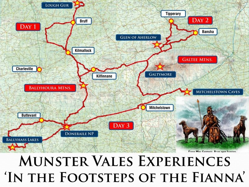 In the Footsteps of the Fianna - Munster Vales Experiences