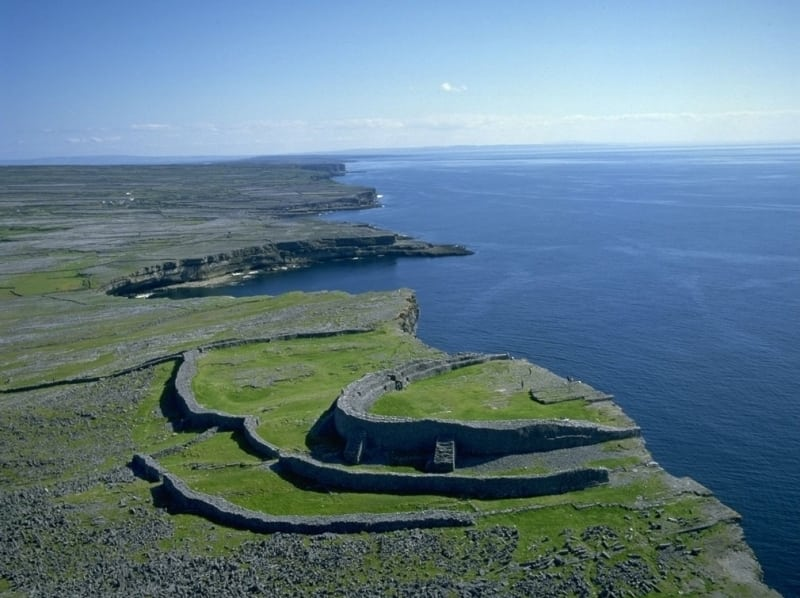 Top Cycling Routes in Ireland Dun-Aengus-Fort-Aran-Islands-Co.-Galway-Wild-Atlantic-Way-Failte-Ireland-Tourism-Ireland
